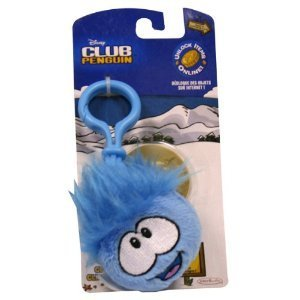 Disney Club Penguin 2 Inch Plush Puffle Clip On Blue [Toy]
