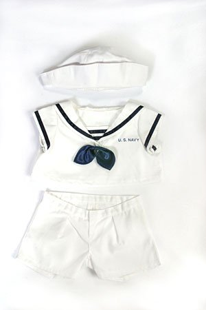 Uniform Bear (US Navy Uniform Outfit Teddy Bear Clothes Fit 14