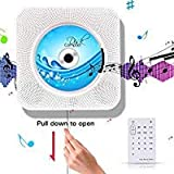 CD Player-- Sanwo Bluetooth Hi-Fi CD Music Player with remote control, USB, Wall-mounted plate,  MP3 3.5MM Headphone Audio jack AUX input/output(White)