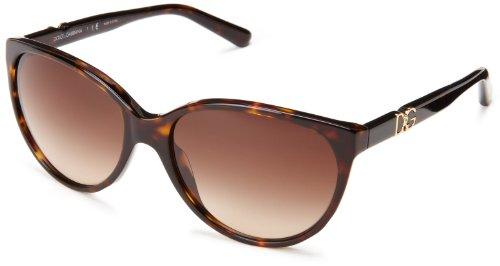 Dolce & Gabbana Lunettes de soleil 4171P Iconic logo Pour Femme Brown Marble / Brown Havana