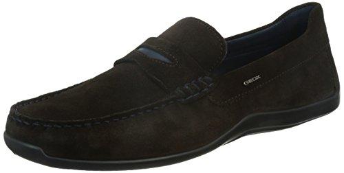Geox Men's Xensemox5 Slip-On Loafer - Dark Coffee - 6 D(M...