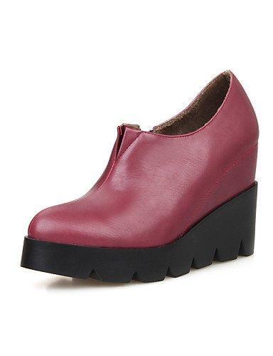 us8 Botines Black Eu39 Cn36 Mujer Gray Cuñas De Exterior us6 Punta Tacón Cn39 Uk6 Cuña Gris Rojo Vestido Casual Xzz Eu36 Sintético Uk4 Cerrada Cn Negro Zapatos Botas pwqUgfnY
