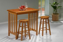 Mission Rectangular Dining Table (Mission 3 Piece Dining Set)