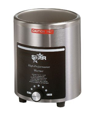 Star 4RW Stainless Steel Round 4 Qt. Warmer with Cover