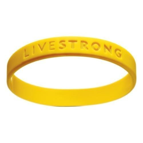 New Livestrong Yellow Cancer Support Bracelet Wristband, XS-M