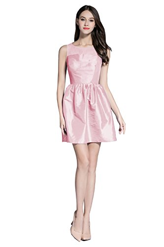 New Cute Red Taffeta Short Cocktail Homecoming Prom Girl Dress pink 8 (Cute Halloween Dress)