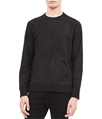 Calvin Klein Men's Faux-Suede Sweatshirt