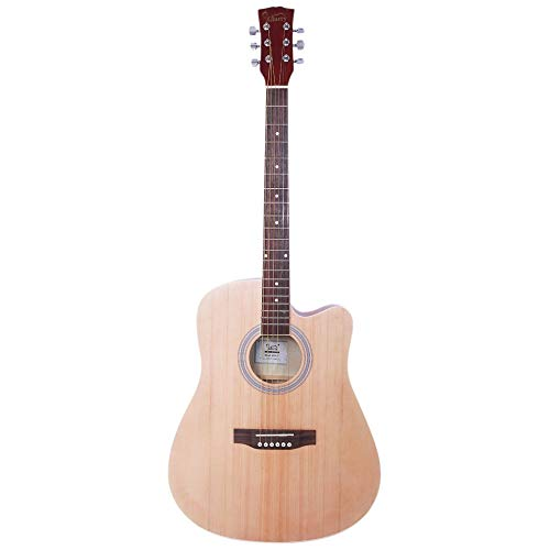 Jskjlkl Spruce Front Cutaway Folk Guitar with Bag & Board & Wrench Tool 41 inch (Color : - Bass String 5 Cutaway