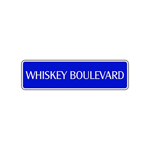 Whiskey Boulevard Novelty Street Sign Drinker Booze Drunk Liquor Bar Pub Décor 4