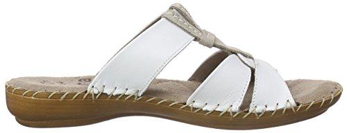 Jana 27107 - Mules Mujer Blanco - blanco (White 100)