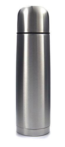 UPC 758114125040, Stainless Steel Vacuum Insulated Flask: Thermos Construction with Cup Cap and Pourable Stopper, 16.9 Ounces, For Hot or Cold Beverages