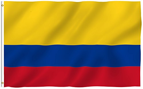 Anley  Fly Breeze  3X5 Foot Colombia Flag   Vivid Color And Uv Fade Resistant   Canvas Header And Double Stitched   Colombian National Flags Polyester With Brass Grommets 3 X 5 Ft