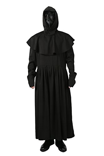 Plague Doctor Costume Robe Cloak Outfit for Adult