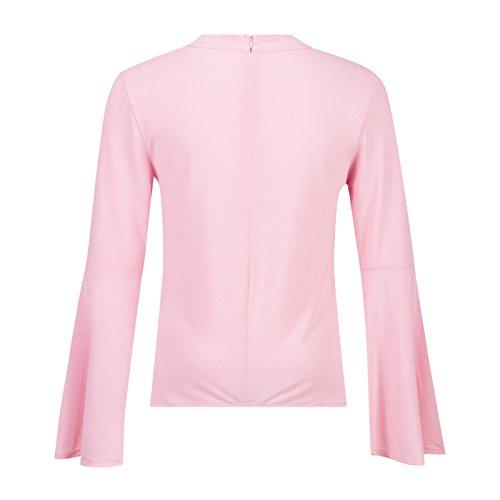 Beauty7 Colgante Cuello Camisetas Mujer Verano Fiestas Coctel Mangas Larga Suelto Irregular Hot T Shirt Camisas Parte Superior Tops Tee