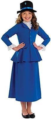 Fun Shack Azul Niñera Victoriana Disfraz para Niñas - M: Amazon.es ...