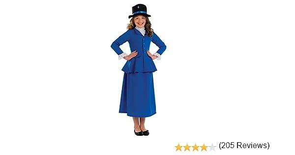 Fun Shack Azul Niñera Victoriana Disfraz para Niñas - L: Amazon.es ...
