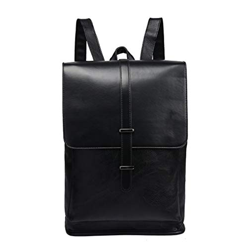 282ec04439e Men Vintage Leather Backpacks Male Laptop Bags Business College Travel  School Bag Casual Daypack