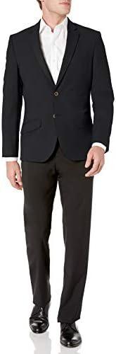 Amazon Essentials Men's Long-Sleeve Button-Front Slim-fit Stretch Blazer