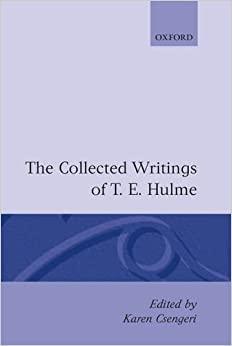 Book The Collected Writings of T. E. Hulme