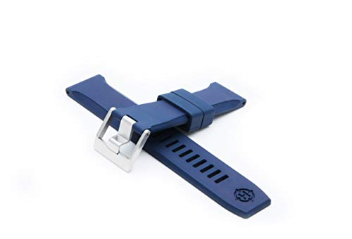 HELM Watches RS1 Rubber Watch Strap - Blue (22mm)