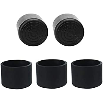 Uxcell 1 1 2 Inch 39mm Round Chair Leg Tips Caps Pads Wood