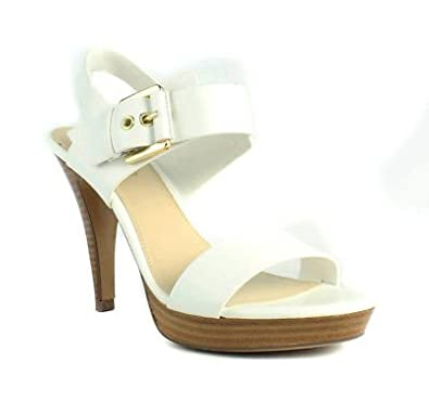 f3b1f1b8e Image Unavailable. Image not available for. Color  Kelly   Katie Womens  Olia White Ankle Strap Sandals ...