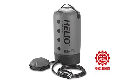NEMO Helio Portable Pressure Shower with Foot Pump, Grey