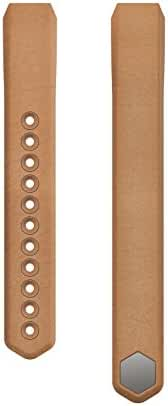 Fitbit Alta Accessory Band, Leather, Camel, Small