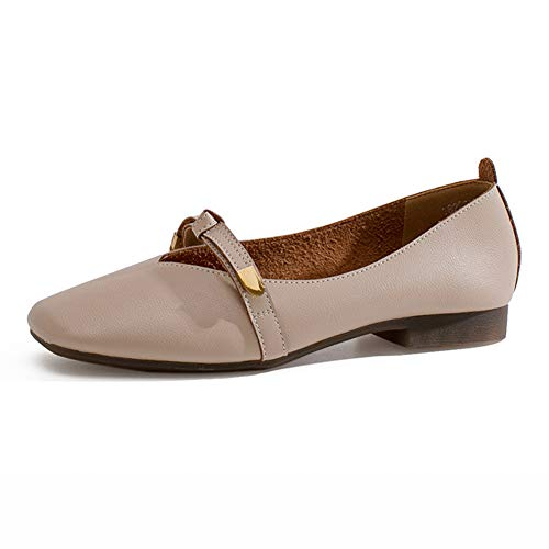 Femme Shallow Femmes 39Beige Oxford LoisirscouleurBeigeTaille Femelle Flat Simples on Automne Mouth Hwf Chaussures Slip Toe Pu v0ONmnw8