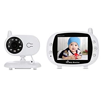 """3.5/"""" 2.4GHz Wireless Baby Monitor IP Camera Night Vision TFT LCD Video 2 Way"""