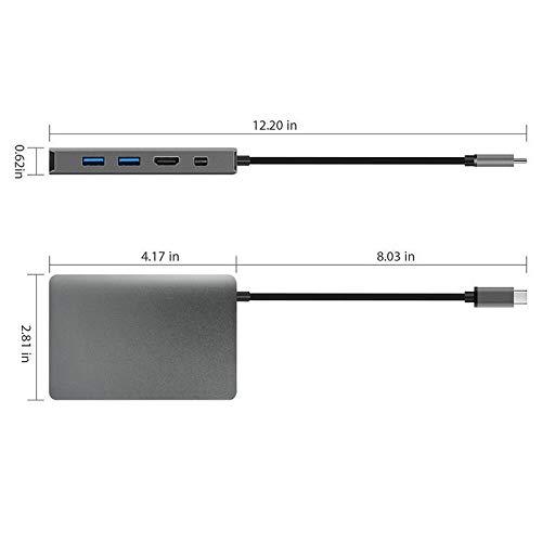FidgetFidget Ethernet Adapter Converter 9 in 1 USB 3.1 Hub USB-C Type-C to 4K HDMI Gigabit