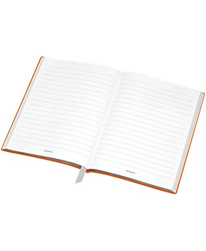 Mont Blanc Notebook 116225 Fine Stationery # 146/Leather Lined A5 Notebook with Soft Cover. Colour: Lucky Orange/192 Pages