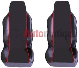 PREMIUM BLACK SEAT COVERS RED PIPING 1-1 SEAT LEON FR 06-