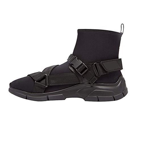 XINGMU Nuevo Hip-Hop Zapatillas De Mujer Calcetines Inferior Grueso Estilo Ocio Deportivo Adecuado para El Estilo Hip-Hop. Negro