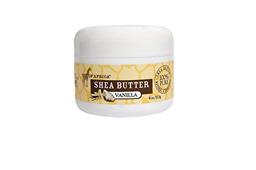Out of Africa Pure Raw Unrefined Shea Butter Jar, Vanilla, 4 Ounce