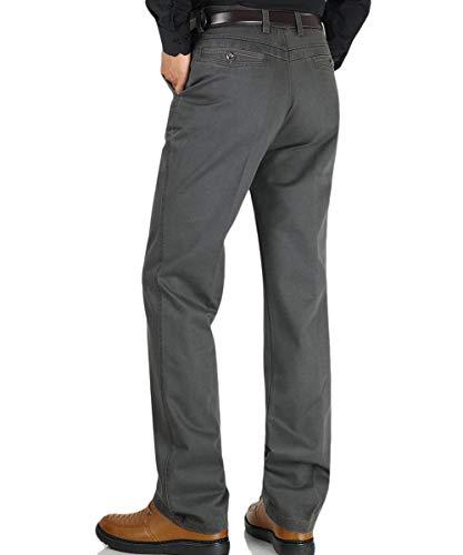 Grau Ragazzi Da Tasca Libero Pantaloni Uomo Per Il Dritti Bicolore Classiche Larghi Con Tempo 1aOwFZn7wx