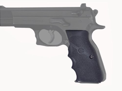 Hogue Rubber Grip CZ-75, TZ-75 P-9 Rubber Wraparound with Finger - Rubber Hogue Soft