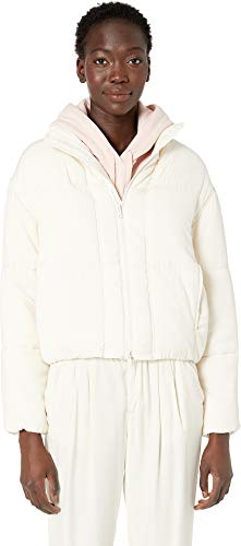 Vince Women's Soft Bomber Jacket, Pampas, White, Off White, Small