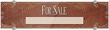 5-Pack for Sale CGSignLab 24x6 Victorian Card Premium Brushed Aluminum Sign