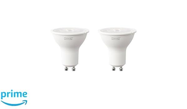 IKEA ryet Bombilla LED GU10 de 3 W, 200 lúmenes, 2 unidades): Amazon.es: Iluminación
