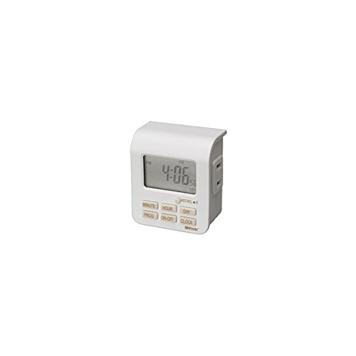 Woods 50008 White 24 Hour 6 Setting Indoor Digital Timer by Coleman Cable