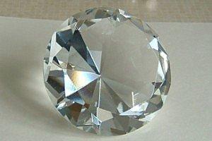 Diamante Gigante fermacarte in vetro Fantastik