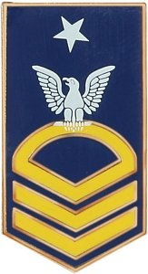 United States Navy E-8 Senior Chief Petty Officer Lapel Pin