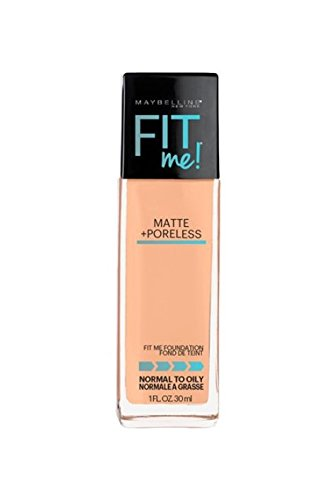 Maybelline New York Fit Me Matte Plus Poreless Foundation Makeup, 220 Natural Beige, 1 Fluid Ounce