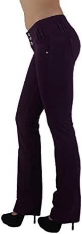3035 - Brazilian Style Butt Lift, Levanta Cola, Fashion Moleton, Boot Leg