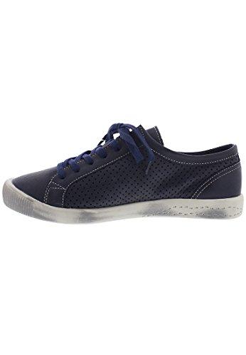 Softinos Damen Ica388sof Sneakers Liscio Dunkelblau