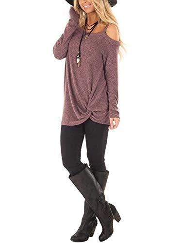Aitosula larga de manga tops mujer t camiseta xOqvrTXWwO