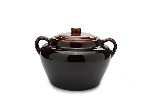 Small Bean Pot - Fox Run 0350COM 0350 Stoneware Bean Pot, 9.75 inches, Brown