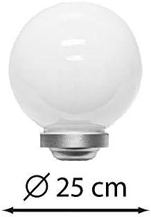 Dekorative LED Solarleuchte MARLA Durchmesser 25cm Garten-Dekokugel Solar-Kugellampe mit Erdspieß Balkon-Terrassen-Camping-Leuchte Solar-Dekorations-Party-Leuchte (4 x 25cm)