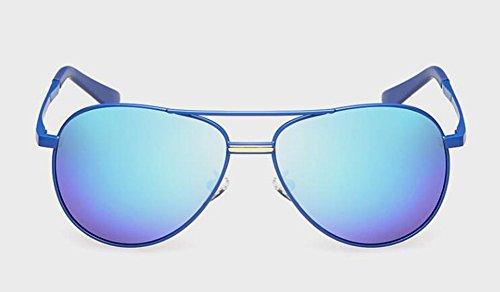 métallique B cercle du Bleu en style polarisées Lennon Foncé soleil rond retro de Pièce inspirées lunettes vintage a4qyPcFBaw